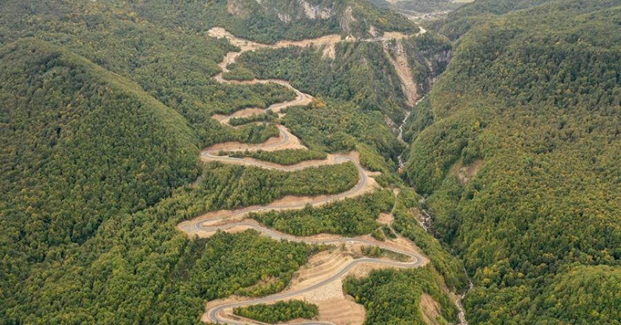 ზემო იმერეთი - რაჭის დამაკავშირებელი ახალი 51.5 კილომეტრიანი გზა გაიხსნა